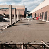 Concrete slab at Place Longueuil